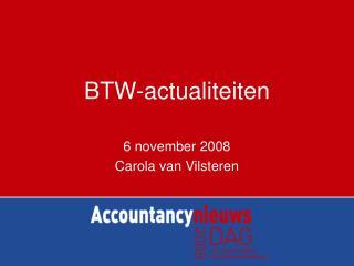 BTW-actualiteiten