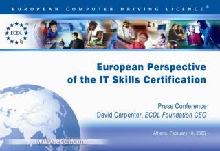 ECDL - Computer Skills For Life