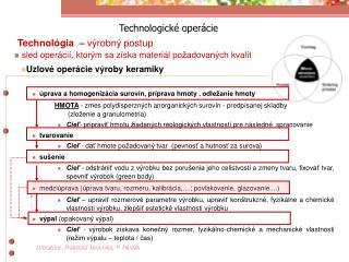 Technologické operácie