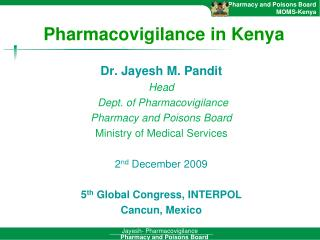 Pharmacovigilance in Kenya
