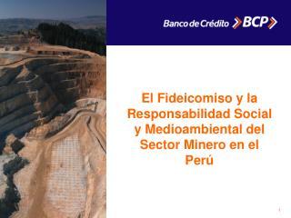 El Fideicomiso y la Responsabilidad Social y Medioambiental del Sector Minero en el Per