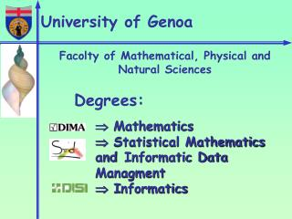Facolty of Mathematical, Physical and Natural Sciences