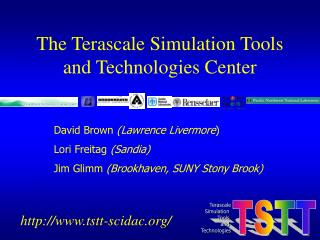 The Terascale Simulation Tools and Technologies Center