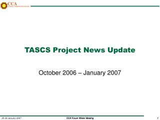 TASCS Project News Update