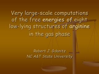 Robert J. Gdanitz NC A&T State University