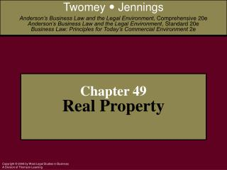 Chapter 49 Real Property