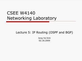 CSEE W4140 Networking Laboratory