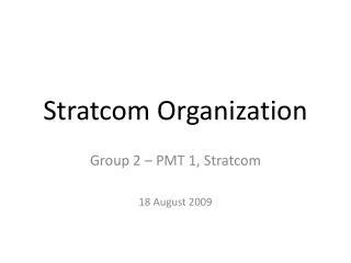 Stratcom Organization