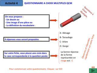 Questions à Choix Multiple.