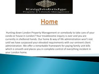 Property Management Mayfair
