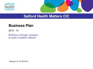 Salford Health Matters CIC