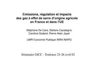 Séminaire GICC - Toulouse 25-26 avril 02