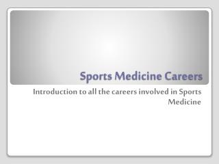 Sports Medicine Careers