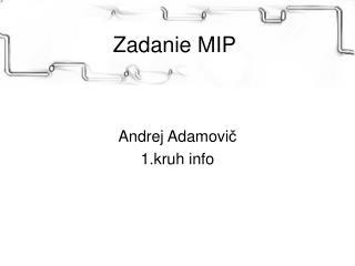 Zadanie MIP