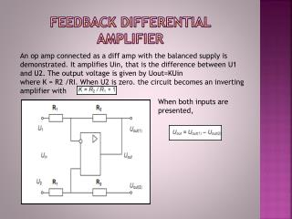 Feedback differential amplifier