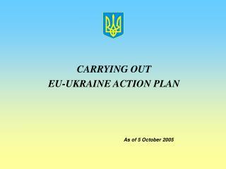 CARRYING OUT  EU-UKRAINE ACTION PLAN