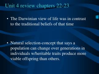 Unit 4 review chapters 22-23