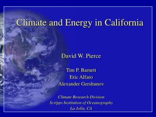 Climate and Energy in California