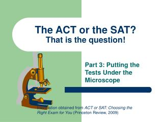 The ACT or the SAT? That is the question!