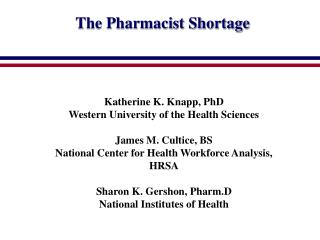The Pharmacist Shortage