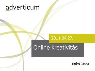 Online kreativitás