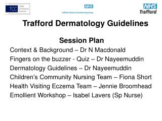 Trafford Dermatology Guidelines