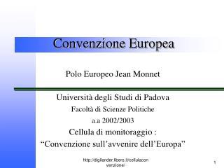 Convenzione Europea