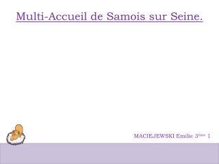 Multi-Accueil de Samois sur Seine.
