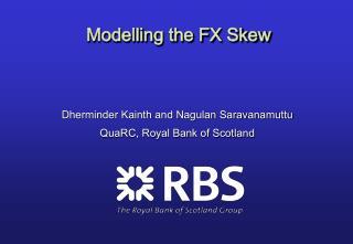 Modelling the FX Skew