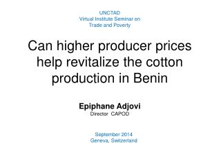Can  higher producer prices help revitalize the cotton production in Benin