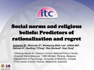 Social norms and religious beliefs: Predictors of rationalization and regret