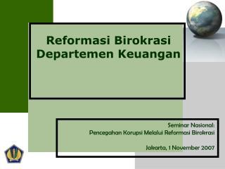 Reformasi Birokrasi Departemen Keuangan