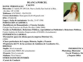 BLANCA PORCEL CALVO