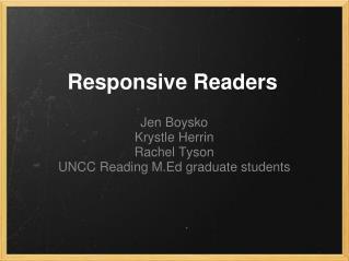 Responsive Readers