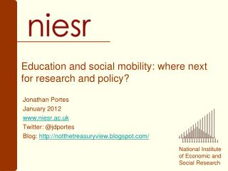 Education and social mobility: where next for research and policy
