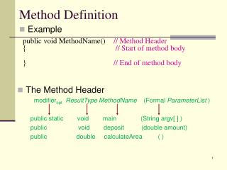 Method Definition