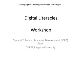 Digital Literacies Workshop