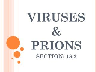 VIRUSES    & PRIONS