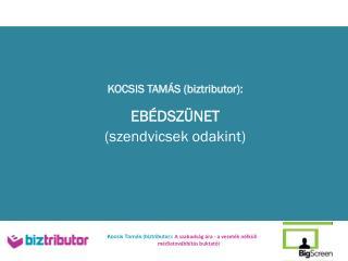 KOCSIS TAMÁS ( biztributor ): EBÉDSZÜNET  (szendvicsek odakint)