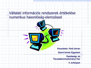 V llalati inform ci s rendszerek  rt kel se numerikus hasonl s g-elemz ssel