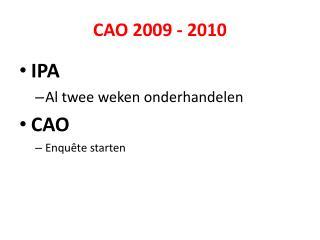 CAO 2009 - 2010