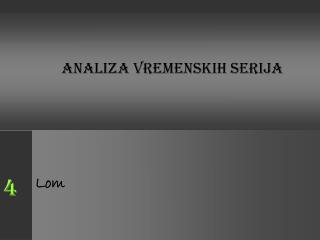 ANALIZA VREMENSKIH SERIJA