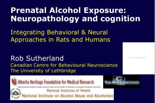 Prenatal Alcohol Exposure: Neuropathology and cognition Integrating Behavioral & Neural