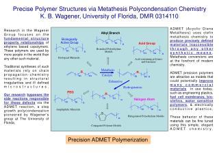 Precise Polymer Structures via Metathesis Polycondensation Chemistry