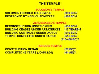 THE TEMPLE