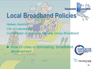 Local Broadband Policies