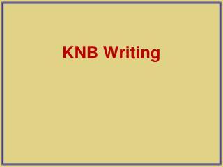 KNB Writing