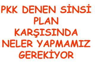 PKK DENEN SİNSİ PLAN KARŞISINDA NELER YAPMAMIZ GEREKİYOR