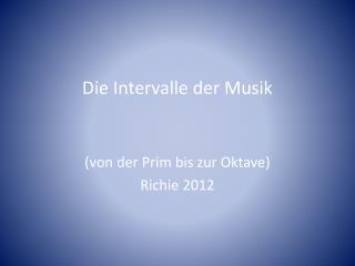 Die Intervalle der Musik