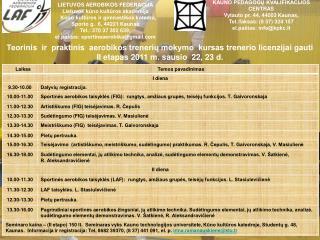 KAUNO PEDAGOGŲ KVALIFIKACIJOS  CENTRAS  Vytauto pr. 44, 44003 Kaunas,